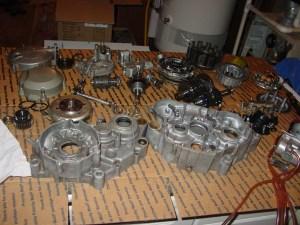 Engine parts clean